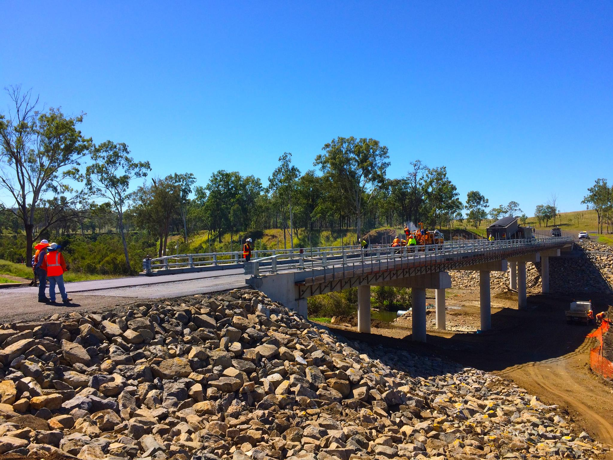 We lost the last bridge to ex-Severe Tropical Cyclone Marcia—but the new bridge over Burnett River on Monto-Mount Perry Road is higher, wider and way um... concretier